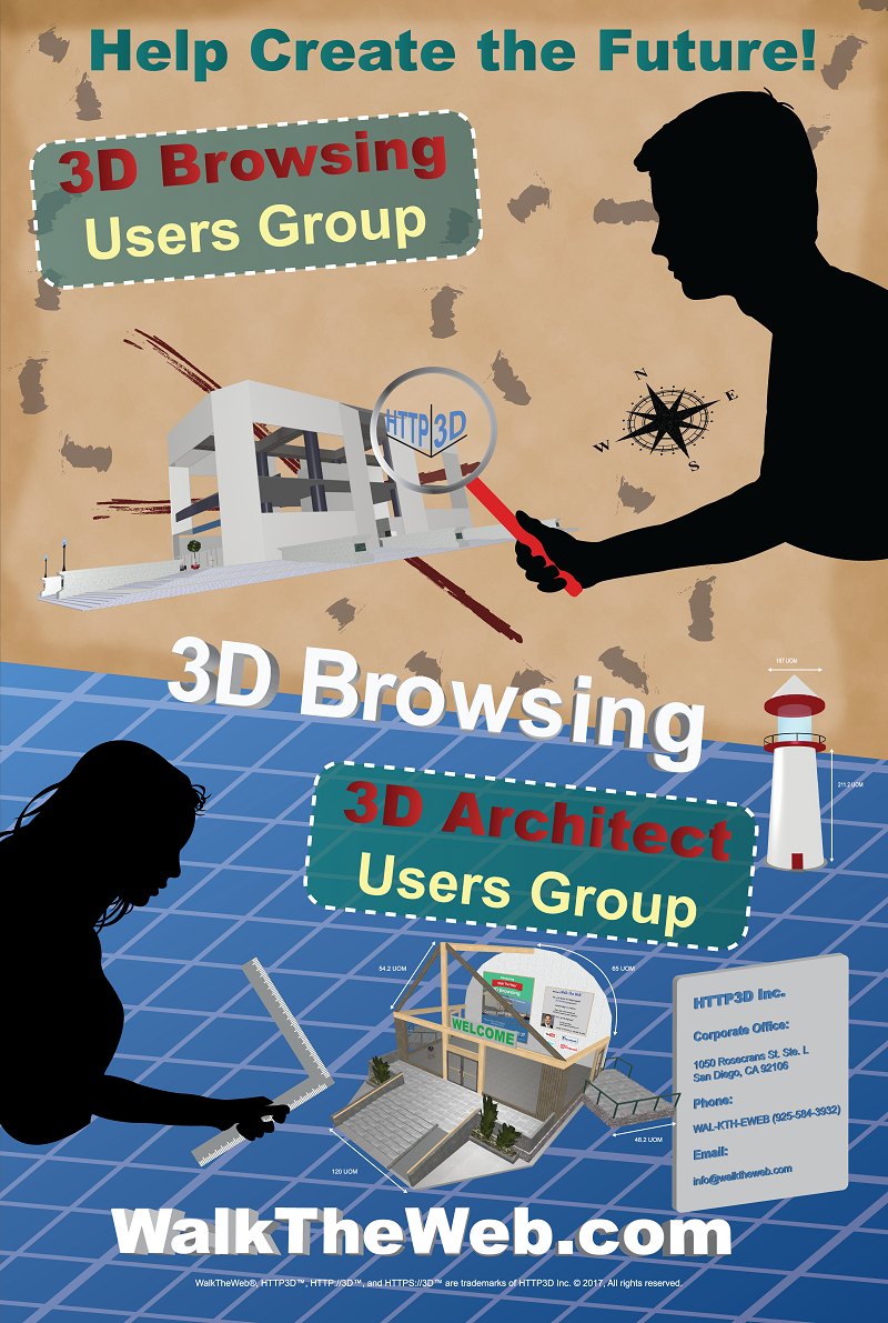 3D Browsing – Help Create the Future – Poster