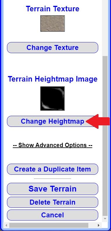 Change Heightmap Image
