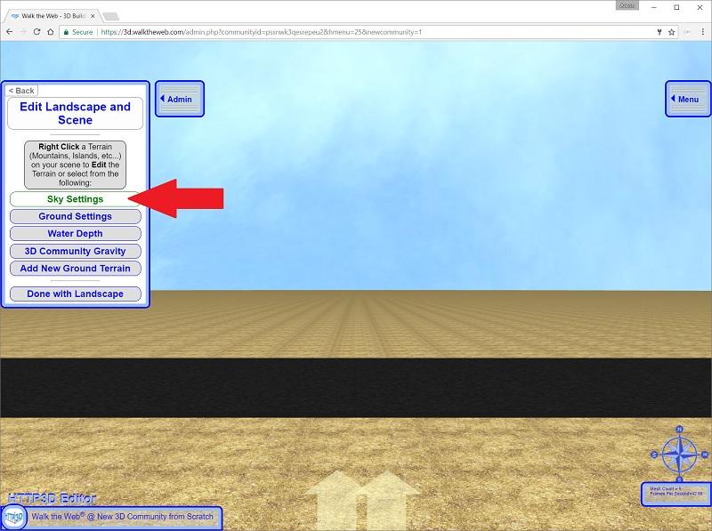 Edit 3D Community Sky