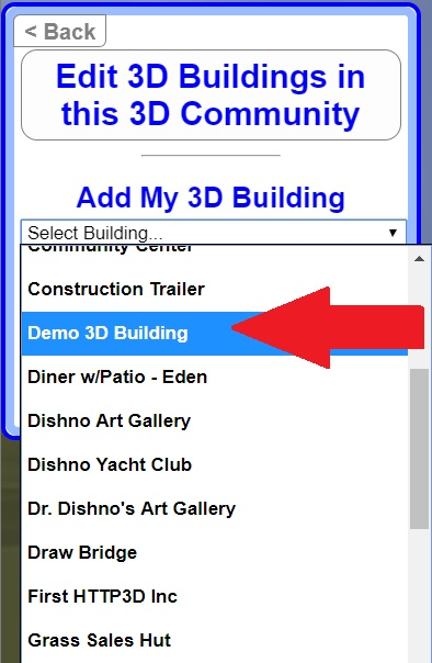Select 3D Building