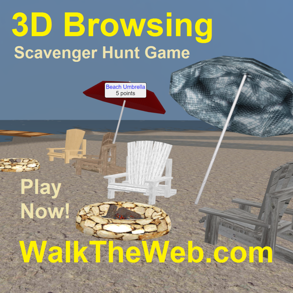 3D Browsing Scavenger Hunt