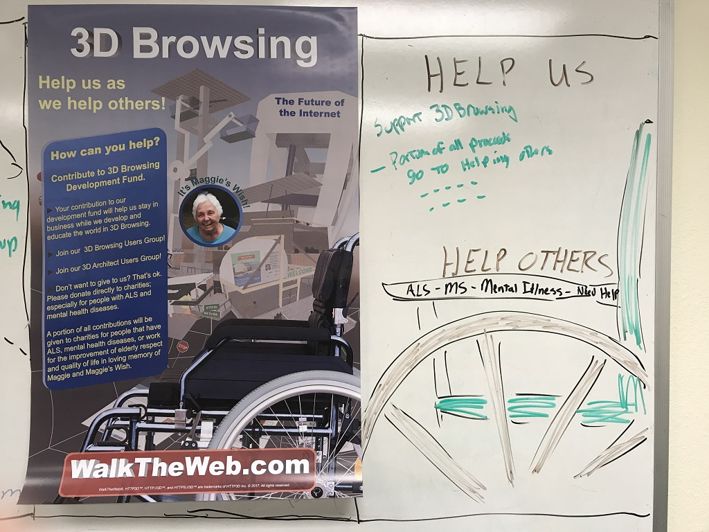 3D Browsing Help us as we Help Others Poster