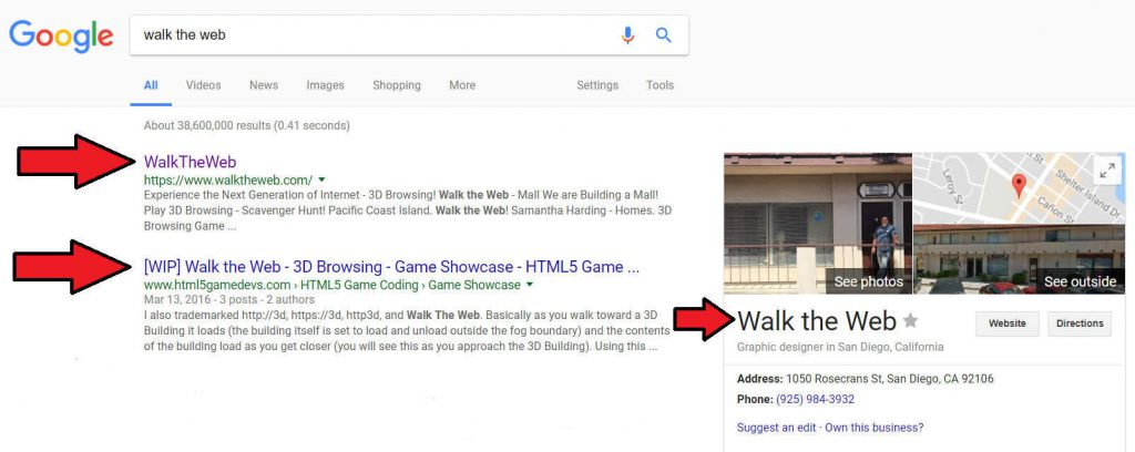Walk the Web Search