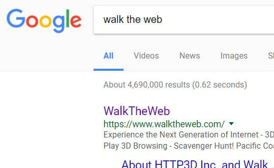 Walk the Web on Google