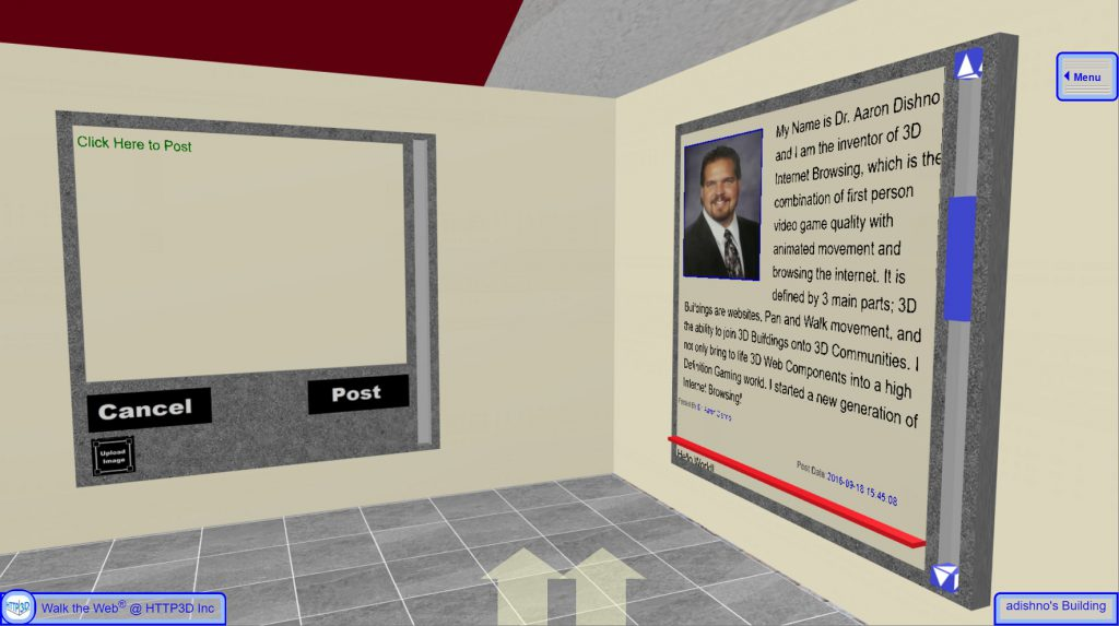 3D Blogging and Messaging