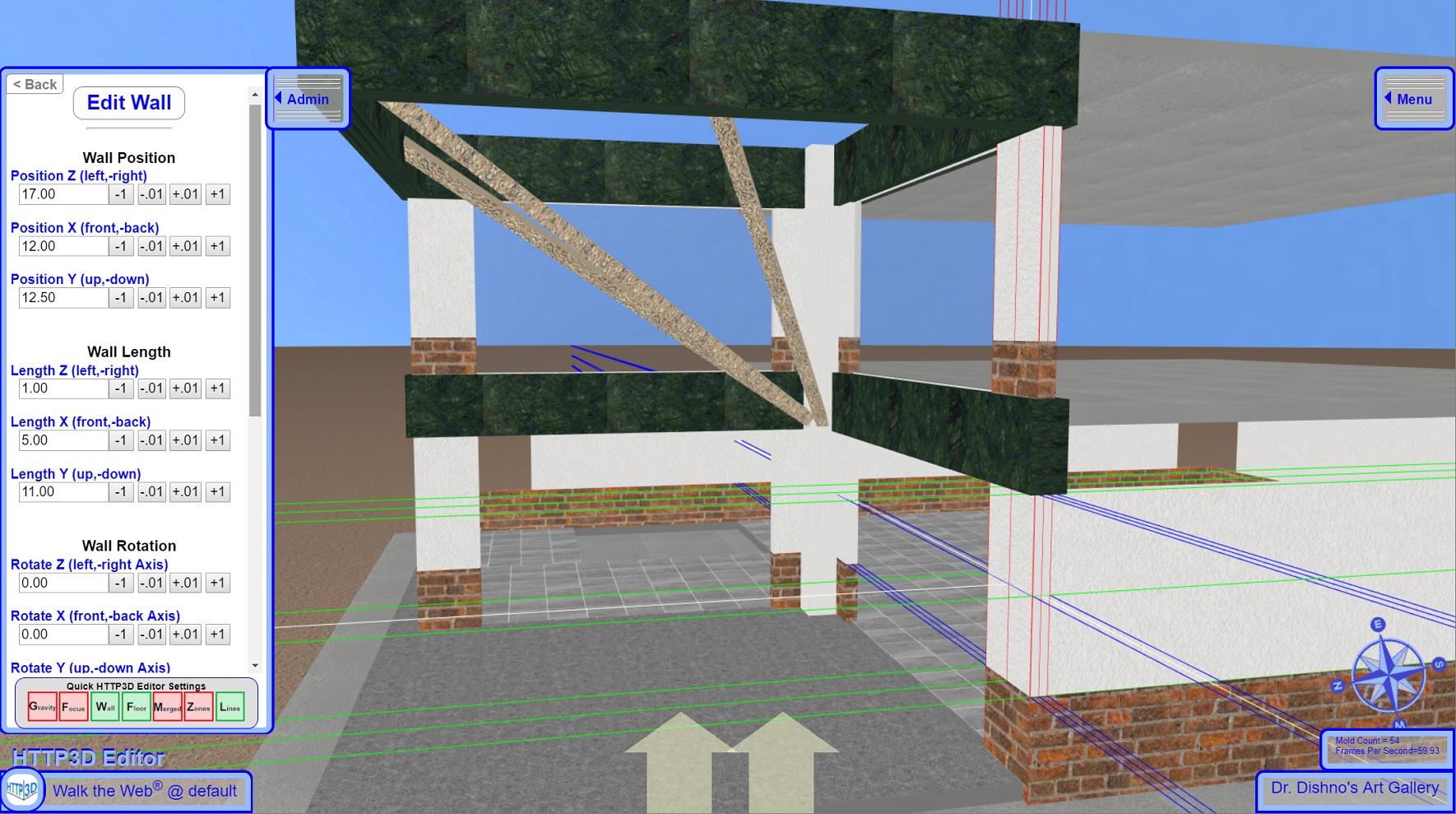 3D CMS - Edit Mode