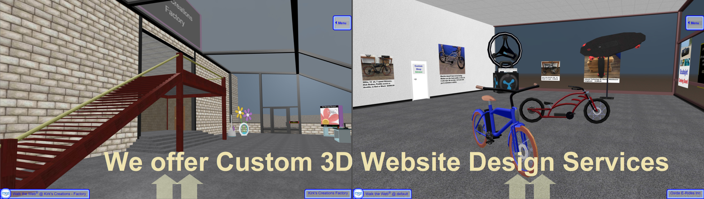 Custom 3D Website Design Services