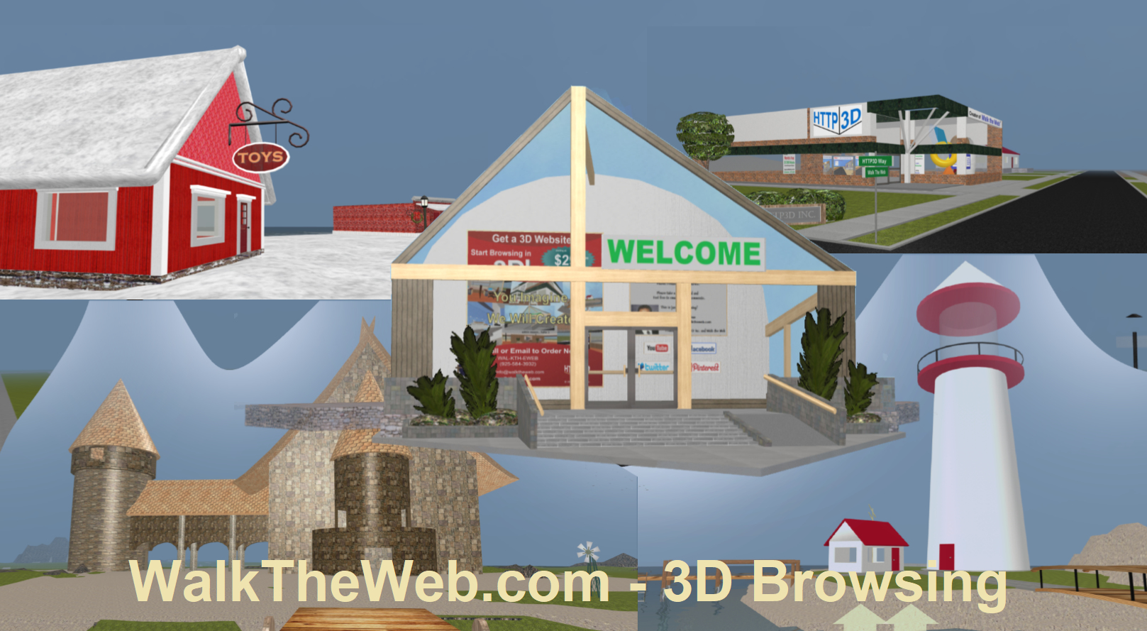 WalkTheWeb.com- 3D Browsing