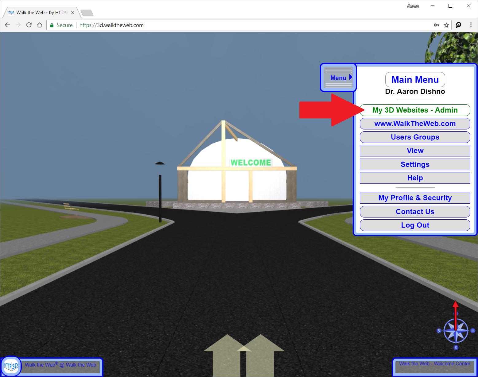 3D Website Admin